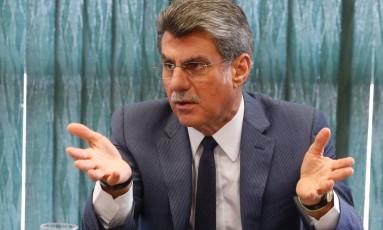 Senador Romero Jucá, presidente do PMDB Foto: IGO ESTRELA / Agência O Globo