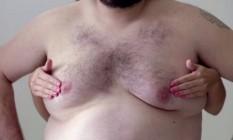 Campanha sobre câncer de mama usa homem para driblar censura das redes Foto: Reprodução