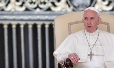 Papa Francisco participa de cerimônia no Vaticano Foto: TIZIANA FABI / AFP