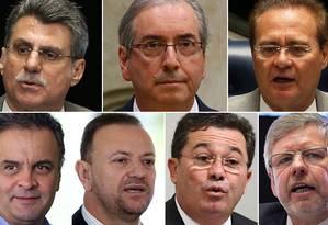 PGR pede ao STF autorização para investigar políticos com base na delação de Delcídio Foto: Montagem