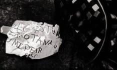 Cabeça foi achada junto a mensagem Foto: Reprodução