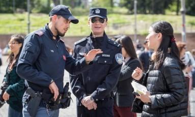 Policiais italiano e chineses farão cooperação nas ruas Foto: Divulgação/Polizia di stato