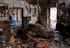 Hospital de Kunduz ficou destruído por bombardeio americano Foto: NAJIM RAHIM / AFP
