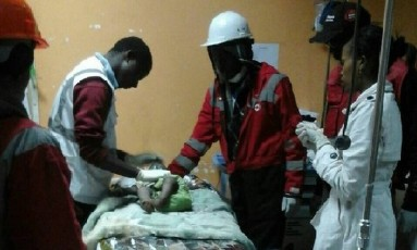 Menina está recebendo tratamento no Hospital Nacional Kenyatta Foto: Reprodução