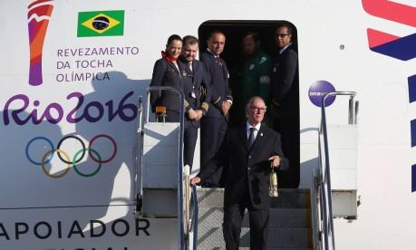 Chegada da Tocha Olímpica em Brasília Foto: Michel Filho / Agência O Globo