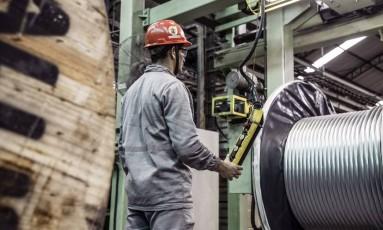 Fábrica de metais e cabos em Barcarena Foto: Paulo Fridman / Bloomberg