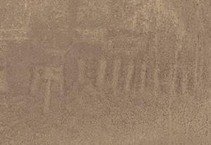 Assim como outros geoglifos, desenho de animal mítico só pode ser visto do céu Foto: Universidade Yamagata