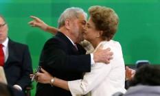 Dilma Rousseff durante a cerimônia de posse de Luiz Inácio Lula da Silva na Casa Civil em maço Foto: Ailton de Freitas / Agência O Globo