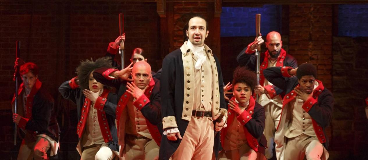 Cena do musical 'Hamilton' Foto: Joan Marcus / AP