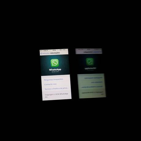 Por decisão judicial, o WhatsApp foi suspenso por 72 horas em todo o país Foto: NACHO DOCE / REUTERS