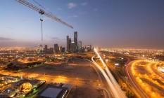 Distrito financeiro em Riad. Foto: Waseem Obaidi / Bloomberg