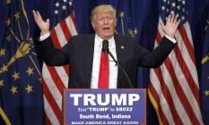 Donald Trump em evento de campanha Foto: Charles Rex Arbogast / AP