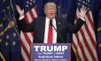 Donald Trump em evento de campanha