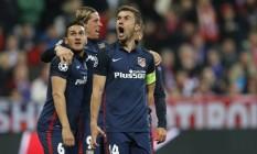 O Atlético de Madrid perdeu para o Bayern de Munique por 2 a 1, mas se classificou para a final da Liga dos Campeões Foto: Michael Probst / AP