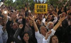 Taxistas são contra a liberação do Uber em São Paulo Foto: Edilson Dantas / Agência O Globo