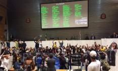 Estudantes invadem Assembleia Legislativa de São Paulo Foto: Reprodução