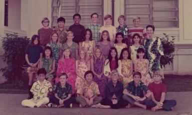 Obama (terceiro à esquerda na fileira superior) e Mabel (primeira à direita, na fila central): relação de respeito Foto: Divulgação/@POTUS