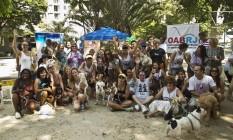 Grupo fez um ato na praça no início do mês Foto: Ana Branco / Agência O Globo
