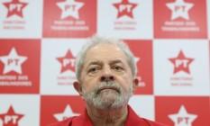 O ex-presidente Luiz Inácio Lula da Silva Foto: Marcos Alves / Agência O Globo / 19-4-2016