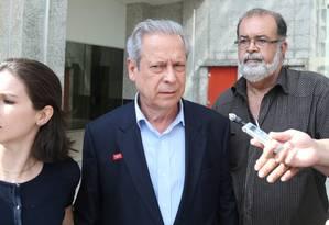 O ex-ministro da Casa Civil José Dirceu Foto: André Coelho (04-11-2014) / Agência O Globo