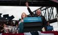 Sanders discursa no Kentucky em dia de boa vitória em Indiana