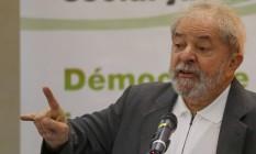 O ex-presidente Luiz Inácio Lula da Silva Foto: Pedro Kirilos / Agência O Globo / 25-4-2016