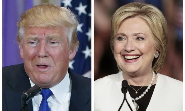 Trump não molda seu discurso com base no que precisa dizer para vencer seus adversários, como Hillary Clinton Foto: REUTERS