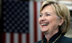 Hillary Clinton sorri durante evento de campanha nos Estados Unidos Foto: JIM YOUNG / REUTERS
