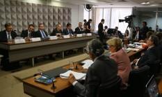 Comissão do impeachment no Senado Foto: Ailton Freitas / Agência O Globo