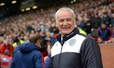 Claudio Ranieri, técnico do Leicester: mãe dele, de 96 anos, ficou feliz da vida com o título inglês e até chorou Foto: OLI SCARFF / AFP