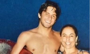 Cissa Guimarães com o filho Rafael Mascarenhas Foto: Reprodução