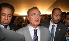 O presidente do Senado, Renan Calheiros (PMDB-AL) Foto: Ailton Freitas / Agência O Globo / 27-4-2016