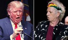 Trump e Richards quase chegaram às vias de fato Foto: Reprodução