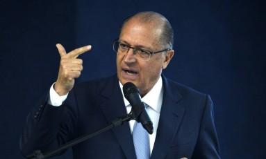O governador de São Paulo, Geraldo Alckmin (PSDB) Foto: José Cruz/Agência Brasil