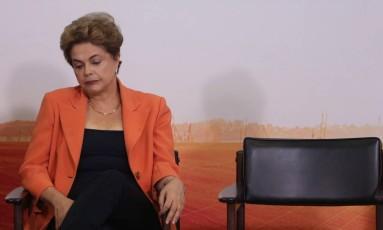 A presidente Dilma Rousseff Foto: André Coelho / Agência O Globo / 4-5-2016