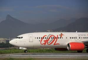 No ar. A Gol fez proposta para donos de debêntures, de títulos emitidos no exterior e fez acordos com Delta e Boeing Foto: Dado Galdieri / Bloomberg News