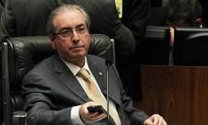 O presidente da Câmara, Eduardo Cunha (PMDB-RJ) Foto: Jorge William / Agência O Globo / 4-5-2016