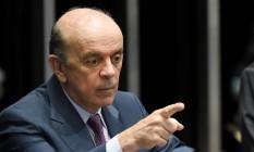 O senador José Serra (PSDB-SP) Foto: Evaristo Sa / AFP / 25-4-2016