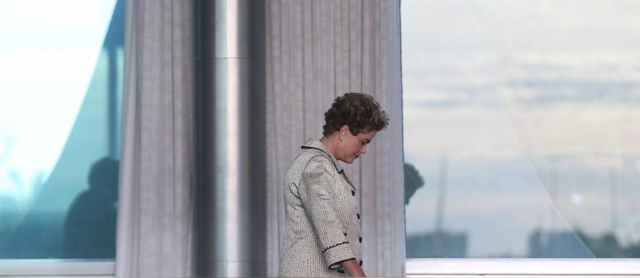 """Futuro. Durante seu pedido de afastamento, Dilma deverá ficar no Palácio da Alvorada, que petistas querem transformar num """"bunker"""" contra o processo de impeachment no Senado Foto: André Coelho / Agência O Globo / 19-2-2016"""