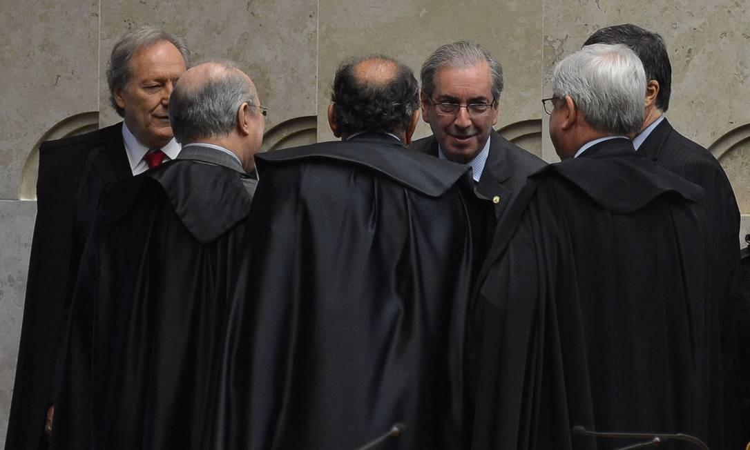 Brasília, em 2 de fevereiro de 2015. Cunha participa de sessão de abertura do ano judiciário, já como novo presidente da Câmara Foto: Divulgação / Agência Brasil