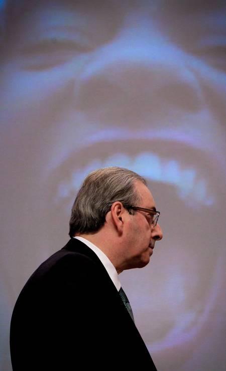São Paulo, em 27 de julho de 2015. Eduardo Cunha participa de debate promovido pelo Grupo de Líderes Empresariais (LIDE) Foto: Marcos Alves / Agência O Globo
