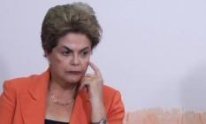 A Presidente Dilma Rousseff no Palácio do Planalto Foto: André Coelho / Agência O Globo