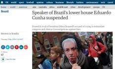 Eduardo Cunha no Guardian Foto: Reprodução