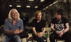 Cliff Williams, Angus Young e Axl Rose convidam fãs para show do AC/DC em Portugal Foto: Reprodução