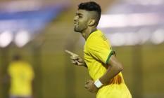 Gabriel, atacante do Santos, em partida pela seleção olímpica: Dunga apostou no jogador para a Copa América Foto: Rafael Ribeiro / CBF