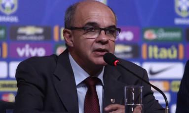O presidente do Flamengo, Eduardo Bandeira de Mello, vai comandar a delegação brasileira na Copa América, a convite da CBF Foto: Lucas Figueiredo / Mowa Press