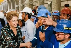 Dilma participa de cerimônia de início da operação na usina de Belo Monte, em Vitória do Xingu (PA) Foto: Divulgação