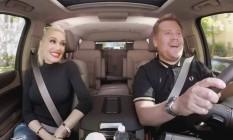 Gwen Stefani participa de 'Carpool karaokê' com James Corden Foto: Reprodução