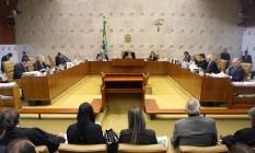 O plenario do STF Foto: Divulgação/STF/4-5-2016