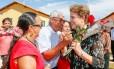 Presidente Dilma Rousseff durante cerimônia de entrega de unidades habitacionais do Residencial Salvação, em Santarém (PA)